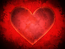 Abstract red heart grunge background Royalty Free Stock Photos