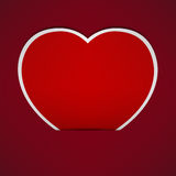 Abstract Red Heart paper background. Royalty Free Stock Photo