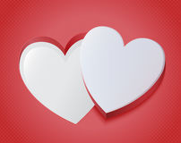 Abstract red heart puzzle Stock Photography
