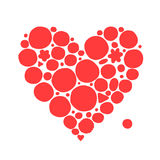 Abstract red heart shape, sketch for your design. Vector illustration Royalty Free Illustration