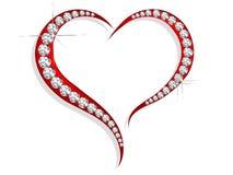 Diamond heart Stock Photo
