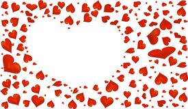 Abstract red heart symbol for Valentine`s Day. Royalty Free Stock Images
