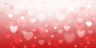 Abstract red heart for Valentines background. Vector illustratio Royalty Free Stock Photos