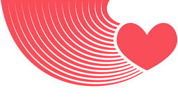 Abstract red heart - vector illustration flat Stock Photography