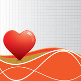 Abstract red heart whit texture. Stock Photos