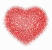 Abstract Red Heart on white Royalty Free Stock Photo