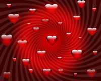Abstract red hearts background of valentines day Royalty Free Stock Image