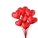 Abstract red hearts bouquet Royalty Free Stock Photography