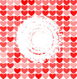 Abstract red hearts cover Stock Photography