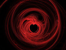 Abstract Red Hearts On Black Background Stock Images