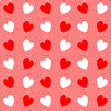 Abstract red hearts and twisted lines background Royalty Free Stock Image
