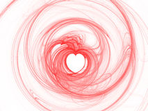 Abstract red hearts on white background Stock Photos