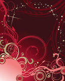Abstract red holiday background. Stock Photography