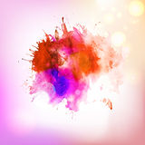 Abstract red hot drawing splash element Stock Photo