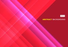 Abstract red image that depicts technology with overlapping diag. Onal lines. Vector illustration Royalty Free Stock Photography
