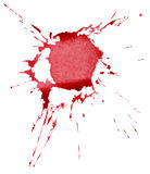 Abstract red ink splash Stock Image