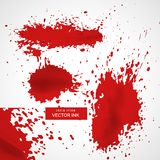 Abstract red ink splatter texture background. Vector Royalty Free Stock Photos