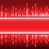 Abstract red label equalizer graph modern vector. Abstract red label equalizer graph modern design background vector illustration Royalty Free Stock Images