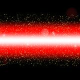 Abstract red laser beam. Isolated on black background. Vector il. Lustration, eps 10 Stock Images
