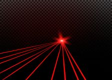 Abstract red laser beam. Transparent isolated on black background. Vector illustration. Abstract red laser beam. Transparent isolated on black background Royalty Free Stock Photo