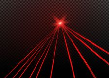 Abstract red laser beam. Transparent isolated on black background. Vector illustration. Abstract red laser beam. Transparent isolated on black background Stock Photography