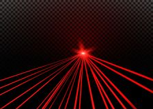 Abstract red laser beam. Transparent isolated on black background. Vector illustration vector illustration