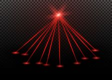 Abstract red laser beam. Transparent isolated on black background. Vector illustration. Abstract red laser beam. Transparent isolated on black background Stock Photos