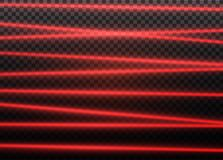 Abstract red laser beam. Transparent isolated on black background. Vector illustration.the lighting effect.floodlight. Directional Royalty Free Stock Photos