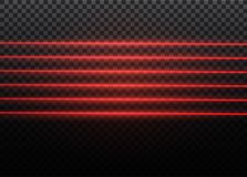 Abstract red laser beam. Transparent isolated on black background. Vector illustration.the lighting effect.floodlight. Directional Royalty Free Stock Photo