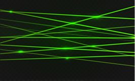 Abstract red laser beam. Transparent isolated on black background. Vector illustration.the lighting effect.floodlight directional. Stock Photo