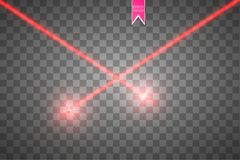 Abstract red laser beam. Vector illustration.the lighting effect.floodlight directional. EPS 10. Abstract red laser beam. Vector illustration.the lighting Royalty Free Stock Images