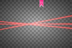 Abstract red laser beam. Vector illustration.the lighting effect.floodlight directional. EPS 10. Abstract red laser beam. Vector illustration.the lighting Stock Images