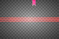 Abstract red laser beam. Vector illustration.the lighting effect.floodlight directional. EPS 10. Abstract red laser beam. Vector illustration.the lighting Stock Photography