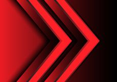 Abstract red light arrow direction 3D design modern futuristic background vector. Illustration royalty free illustration