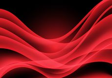 Abstract red light curve wave on black design modern luxury futuristic background vector. Illustration vector illustration