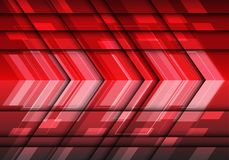 Abstract red light speed metal arrow 3D design modern futuristic vector. Abstract red light speed metal arrow 3D design modern futuristic background vector Royalty Free Stock Photography