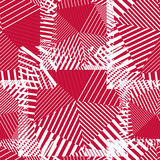 Abstract red lines seamless pattern. Vector psychedelic wallpape Stock Photos