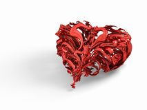 Abstract red love heart Royalty Free Stock Image