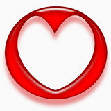 Abstract red love heart Stock Images