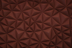Abstract red marsala low poly background with copy space 3d rend Royalty Free Stock Images