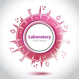 Abstract red medical laboratory circle Stock Images