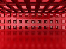 Abstract Red Modern Interior Architecture Background Stock Images