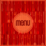 Abstract red modern restaurant or cafe menu card Royalty Free Stock Photos