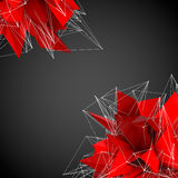 Abstract red modern shapes Stock Images