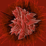 Abstract red modern triangular shape Stock Images