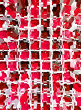 Abstract red mosaic dimension Stock Photo