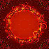 Abstract red mystic lace background with swirl. Pattern and frame for text, eps10 Royalty Free Stock Image