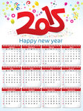Abstract red new year calender Stock Image
