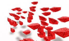 Abstract red objects 3d render Royalty Free Stock Photography