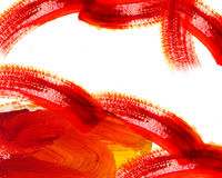 Abstract red oil painting Stock Images